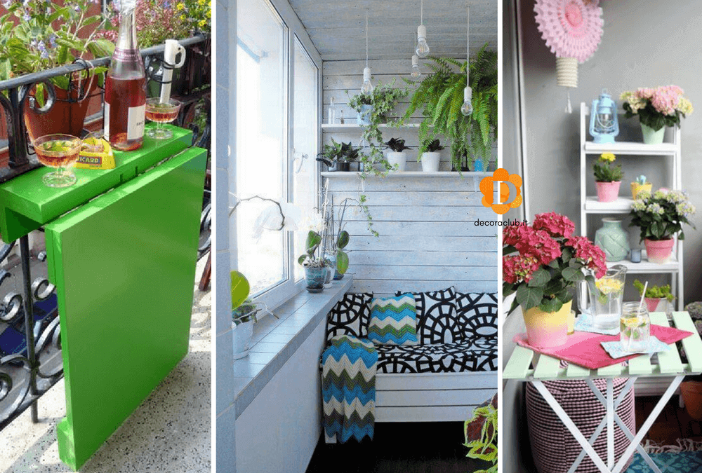 10 Idee per decorare un piccolo balcone