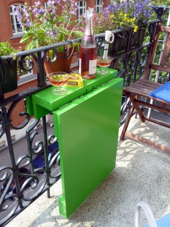 tavolo ribaltabile per balcone