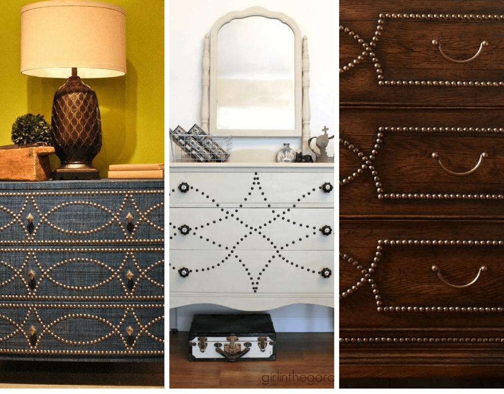 decorare mobili con chiodini da tappezziere