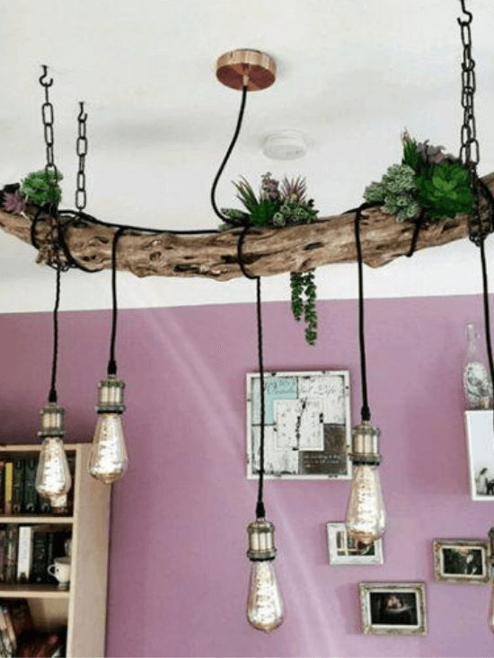 lampadario con ramo